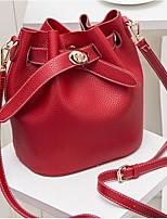 cheap -Women Bags PU Polyester Shoulder Bag Buttons Zipper for Casual All Season Brown Red Black Green