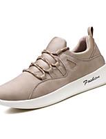 Недорогие -Для мужчин обувь Замша Весна Лето Удобная обувь Кеды для Повседневные Черный Хаки