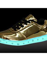 Недорогие -Для мужчин обувь Дерматин Весна Осень Удобная обувь Кеды для Повседневные Золотой Серебряный