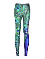 cheap -Women's Retro Cotton Bamboo Fiber Opaque Solid Color Stitching Lace Legging,Plaid Print Green
