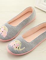 Недорогие -Удобная обувь Домашние тапки Женские тапочки Полиэфир Ткань