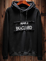 cheap -Men's Plus Size Going out Casual/Daily Cute Street chic Hoodie Print Hooded Hoodies Micro-elastic Polyester Long Sleeve Winter Fall