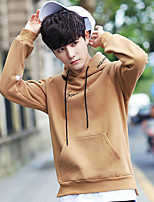 cheap -Men's Petite Daily Casual Hoodie Solid Round Neck Hoodies Micro-elastic Acrylic Long Sleeve Winter Spring/Fall