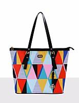 cheap -Women Bags PU Shoulder Bag Pockets for Casual All Season White yellow Rainbow
