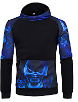 cheap -Men's Daily Hoodie Print Hooded Micro-elastic Cotton Long Sleeve Winter Autumn/Fall