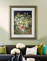 cheap -Botanical Oil Painting Wall Art,PVC Material With Frame For Home Decoration Frame Art Indoors