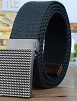 cheap -Unisex Fabric Waist Belt,Black Dark Gray Khaki Light gray Casual
