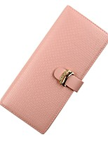 cheap -Women's Bags Cowhide Wallet Buttons Crystal Detailing for Shopping Casual All Seazons Blushing Pink