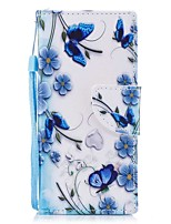 cheap -Case For Sony Xperia XZ1 Xperia XZ1 Compact Card Holder Wallet with Stand Flip Magnetic Pattern Full Body Butterfly Hard PU Leather for