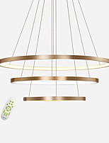 cheap -Modern Electrodeless Dimming Led Pendant Lights Max 120W Simplicity Three Rings Bedroom Restaurant Chandelier