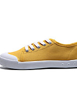 cheap -Girls' Shoes Canvas Spring Fall Comfort Sneakers for Casual Khaki Light Blue Wine Yellow Dark Blue