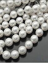 cheap -DIY Jewelry 46 pcs Beads Imitation Pearl White Round Bead 0.8 DIY Bracelet Necklace