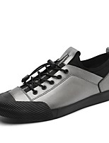 cheap -Men's Shoes Cowhide Leather Spring Fall Driving Shoes Comfort Sneakers for Casual Office & Career White Black Silver