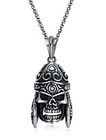 cheap -Men's Skull Hiphop Gothic Cool Pendant Necklace , Stainless Steel Pendant Necklace , Ceremony Bar