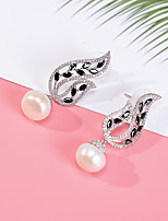 cheap -Women's Stud Earrings Imitation Pearl Rhinestone Basic Imitation Pearl Rhinestone Jewelry For Wedding Party