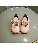 Недорогие -Девочки обувь Кожа Весна Осень Удобная обувь Детская праздничная обувь На плокой подошве для Повседневные Бежевый Розовый Верблюжий