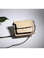 cheap -Women Bags Cowhide Shoulder Bag Buttons for Casual All Season Khaki Black/White Military Green Blushing Pink Black
