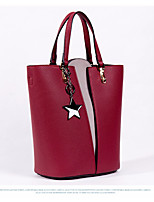 cheap -Women Bags PU Tote Buttons for Casual All Season Camel Dark Green Drak Red Red Black