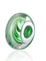 cheap -DIY Jewelry 1 pcs Beads Green Camouflage Color Ball Glass Silver Bead 1.5 cm DIY Bracelet Necklace