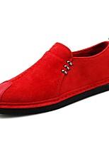 Недорогие -Муж. обувь Нейлон Весна Лето Удобная обувь Мокасины и Свитер для Повседневные на открытом воздухе Черный Красный