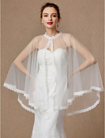 cheap -Sleeveless Lace Tulle Wedding Party / Evening Women's Wrap With Buckle Lace Capes