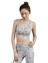 cheap -Women's Running Crop Top Sweat-Wicking Shockproof Sports Bra for Yoga Running/Jogging Pilates Nylon White Black Grey S M L