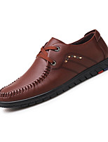 cheap -Men's Shoes PU Spring Fall Comfort Loafers & Slip-Ons for Casual Office & Career Black Coffee Light Brown