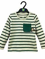 cheap -Boys' Striped Tee,Cotton Spring Fall Long Sleeve Green