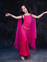 cheap -Belly Dance Dresses Children's Performance Silk Lace Milk Fiber Lace Sleeveless Natural Dress