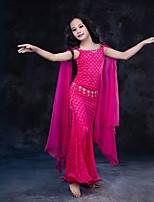 cheap -Belly Dance Dresses Children's Performance Silk Lace Milk Fiber Lace Sleeveless Natural Dresses