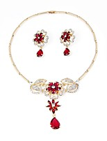 cheap -Women's Jewelry Set Bridal Jewelry Sets Gold Plated Bohemian Fashion Wedding Office & Career 1 Necklace Earrings Costume Jewelry