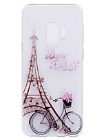 cheap -Case For Samsung Galaxy S9 Plus S9 Transparent Pattern Back Cover Eiffel Tower Soft TPU for S9 S9 Plus S8 Plus S8 S7 edge S7 S6 edge S6