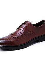 Недорогие -Муж. обувь Натуральная кожа Кожа Весна Осень Формальная обувь Обувь для дайвинга Туфли на шнуровке для Повседневные Черный Коричневый