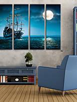 Недорогие -Холст для печати Деревня Modern,4 панели Холст Вертикальная С картинкой Декор стены Украшение дома