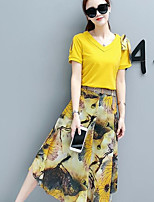 abordables -Mujer Camisa - Geométrico Falda