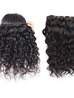 Недорогие -перуанские виргинские волосы натуральный водный волновой стиль 2 пучки 200 г в продаже 100% наращивание человеческих волос ткут