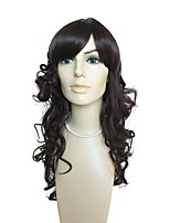 cheap -Synthetic Hair Wigs Curly Natural Hairline Layered Haircut With Bangs Capless Celebrity Wig Natural Wigs Long Black