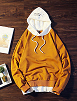 cheap -Men's Petite Daily Casual Hoodie Print Hooded Hoodies Micro-elastic Cotton Long Sleeve Fall