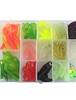 cheap -108 pcs g / Ounce mm inch, Plastic Rubber Carbon Steel Jigging Sea Fishing Fly Fishing Bait Casting Ice Fishing Spinning Jigging Fishing