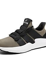 Недорогие -Для мужчин обувь Трикотаж Весна Лето Удобная обувь Кеды для Повседневные Черный Серый Хаки