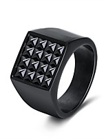 cheap -Men's Women's Band Rings Casual Cool Stainless Steel Geometric Jewelry Gift Carnival