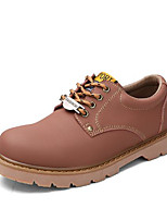 cheap -Men's Shoes Cowhide Spring Fall Comfort Sneakers for Casual Yellow Coffee Wine