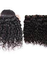 Недорогие -перуанские волосы естественной волны 4bundles 400g серия 10a перуанские девственные человеческие волосы удлиняют переплетения пучки