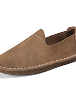 cheap -Men's Shoes PU Spring Fall Comfort Loafers & Slip-Ons for Casual Dark Brown Light Brown Gray