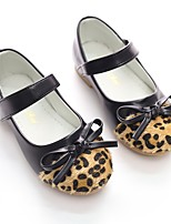 cheap -Girls' Shoes Leatherette Spring Fall Ballerina Flower Girl Shoes Flats Bowknot Sequin Magic Tape for Party & Evening Dress Black