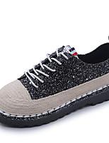 preiswerte -Damen Schuhe Stoff Frühling Komfort Outdoor Flacher Absatz Runde Zehe für Normal Schwarz Regenbogen