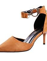 Недорогие -Обувь Полиуретан Весна Осень Удобная обувь Обувь на каблуках Высокий каблук Заостренный носок для Повседневные Черный Желтый Красный