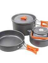 Недорогие -Походный чайник Походная кастрюля Все для приготовления пищи на улице Пригодно для носки Нержавеющая сталь для Походы