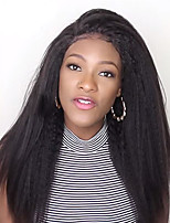 cheap -Pre Plucked Natural Hairline 150% Density Kinky Straight 13x6 Glueless Lace Front Human Hair Lace Wigs with Baby Hair 100% Peruvian Human Hair