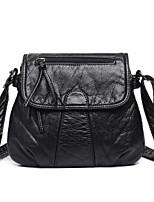 cheap -Women's Bags PU Shoulder Bag Zipper for Casual All Seasons Black